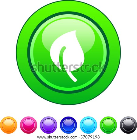 Leaf glossy circle web buttons.