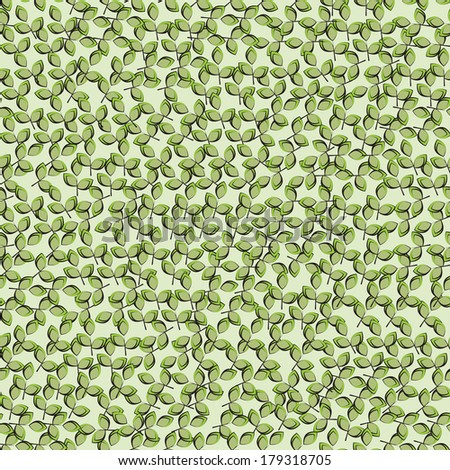 leaf green background. Seamless pattern can be used for wallpaper, pattern fills, web page background,surface textures.  seamless floral background - stock vector