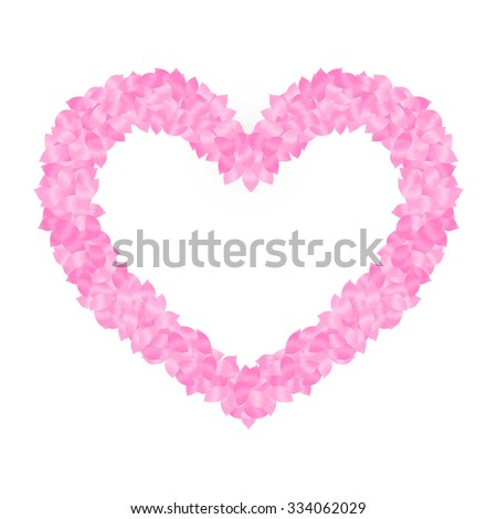 leaf heart shaped frame