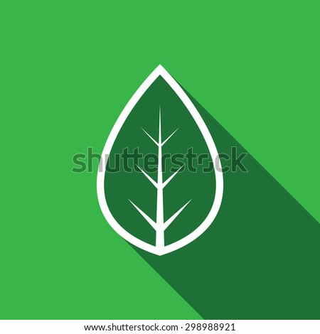 Leaf icon - Vector - stock vector