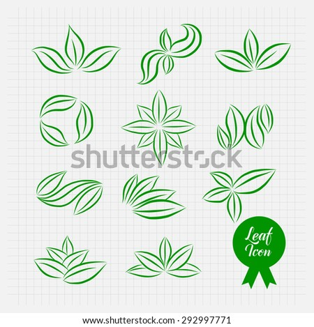 Leaf Icon. Vector Illustration Eps.10 - stock vector