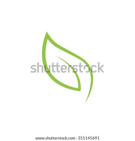 Leaf Icon Vector Illustrations - stock vector