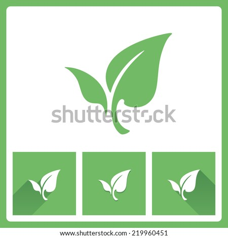 Leaf icons - stock vector