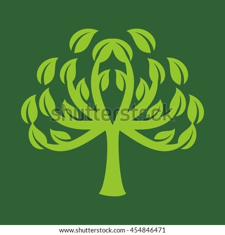 leaf logo vector.
