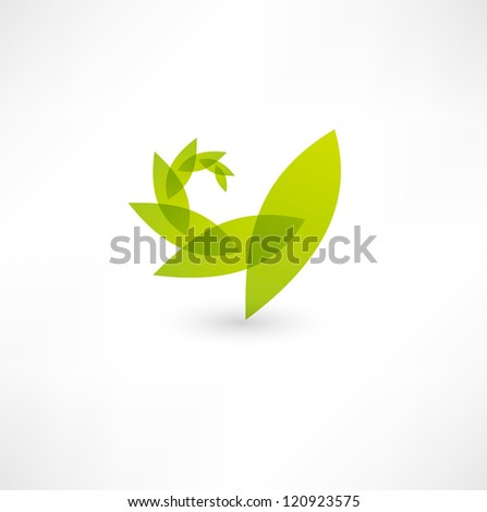 Leaf nature icon - stock vector