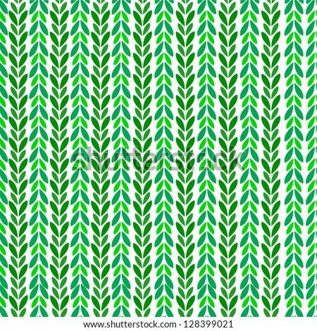 Leaf pattern - stock vector