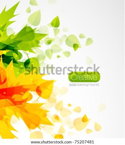 Leaf summer eps10 vector background - stock vector