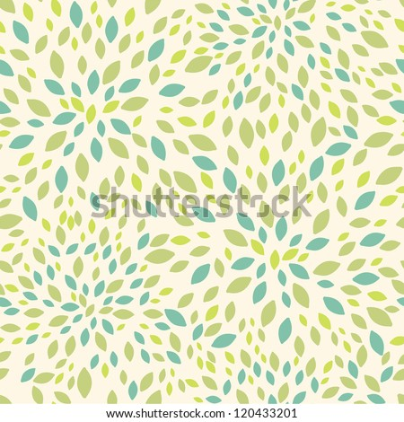 Leaf texture seamless pattern background - stock vector