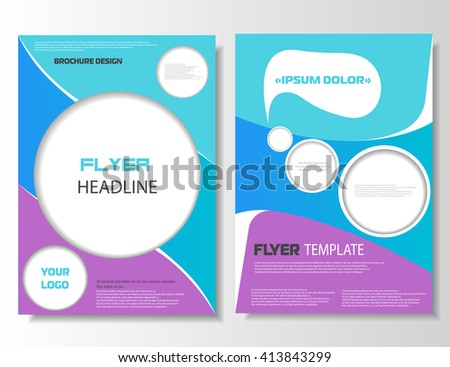 Leaflet design. Brochure layout. Magazine cover. Business concept. Brochure leaflet. Vector illustration, eps 10