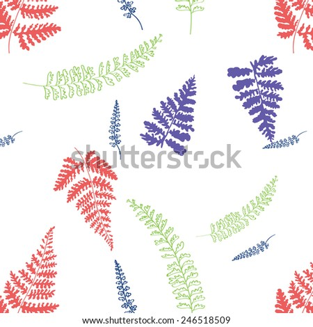 leafs pattern - stock vector