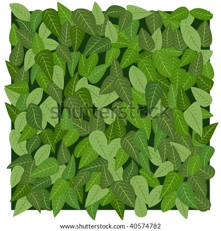 leafs texture in vector mode - stock vector