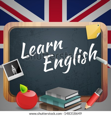 Learn English - stock vector