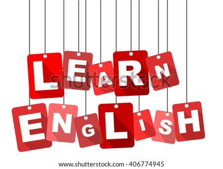 learn english, red vector learn english, flat tag learn english, element learn english, sign learn english, design learn english, background learn english, illustration learn english,learn english eps - stock vector