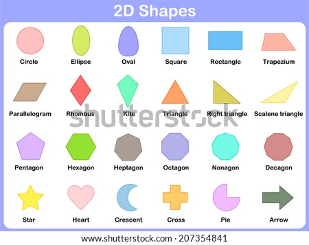 Learning the shapes for kids - stock vector