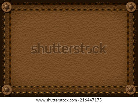 Leather background with rivets for your design
