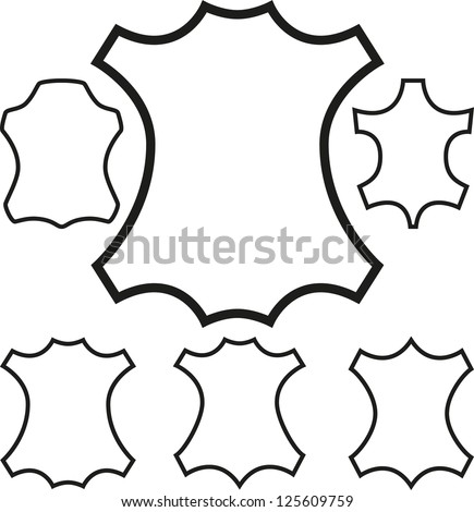 Leather symbol outline. Vector - stock vector