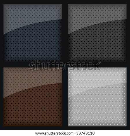 Leather texture - stock vector