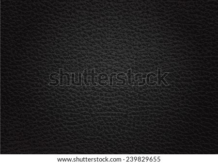 leather texture black background , Vector EPS 10. - stock vector