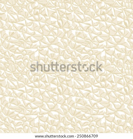 Leather white seamless texture. Vector illustration. - stock vector