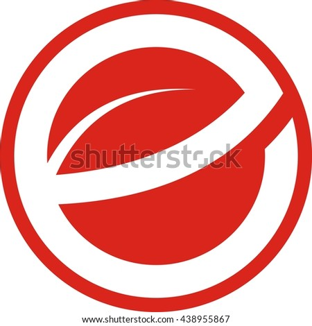 Leave letter e circle logo design stock vector royalty free leave letter e in circle logo design thecheapjerseys Image collections