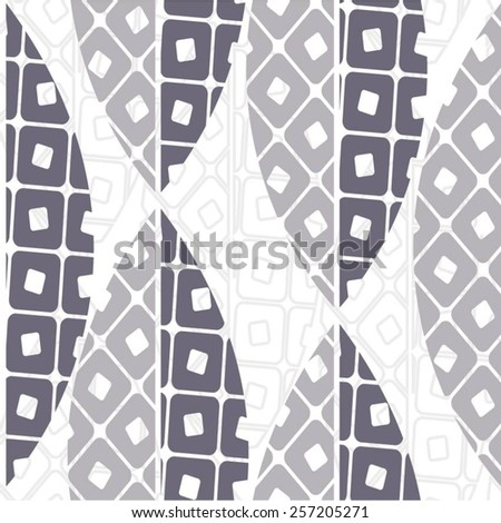 Leaves in a geometric design, seamless vector pattern background. - stock vector