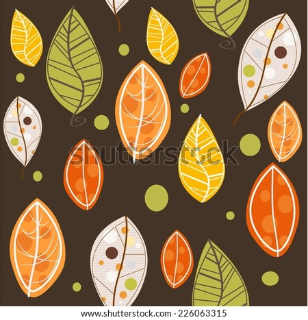 Leaves pattern - stock vector