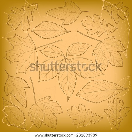leaves pattern background. vector - stock vector