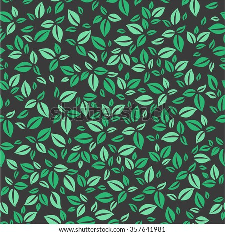 Leaves pattern. Simple leaves pattern. Natural pattern for your design - stock vector