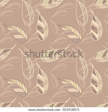 Leaves seamless pattern, eps 8