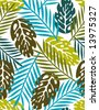leaves - seamless pattern(vector) - stock vector