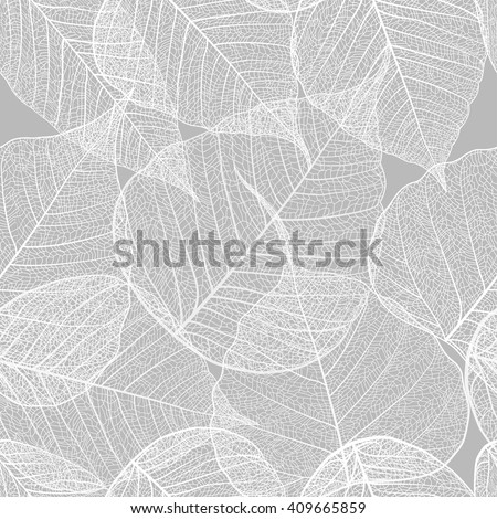 Leaves seamless pattern. Vector, EPS 10. - stock vector