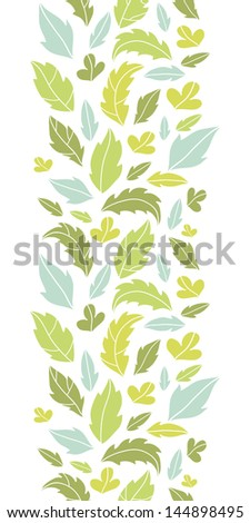 Leaves silhouettes vertical seamless pattern background - stock vector