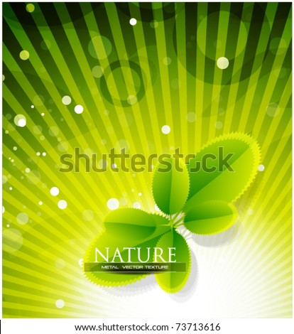 Leaves vector abstract background. Nature design