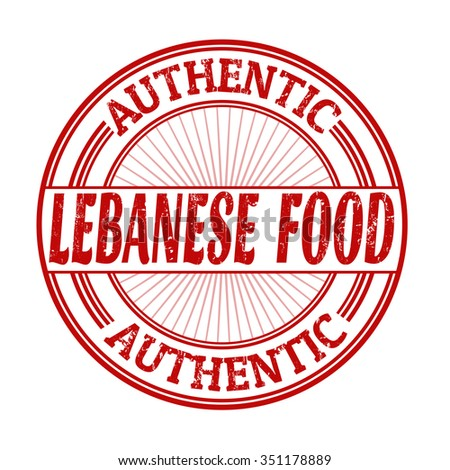 Lebanese food grunge rubber stamp on white background, vector illustration