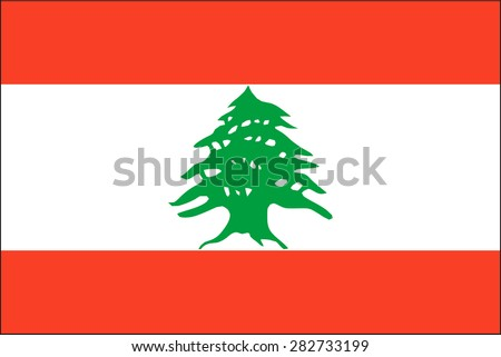 Lebanon flag - stock vector