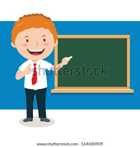 Lecturer. Teaching - stock vector