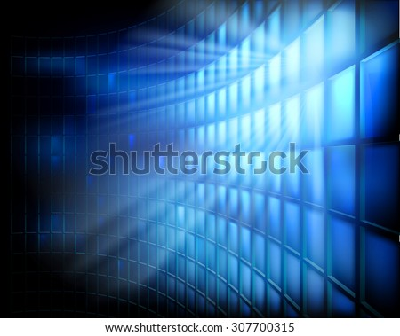 Led display. Vector illustration. - stock vector