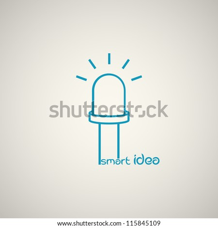 LED icon. Idea concept. Vector. - stock vector