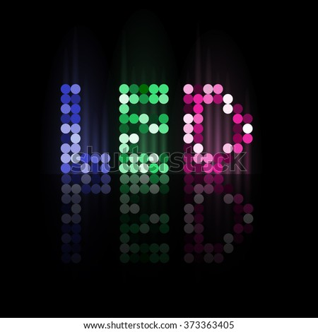 LED illumination logo