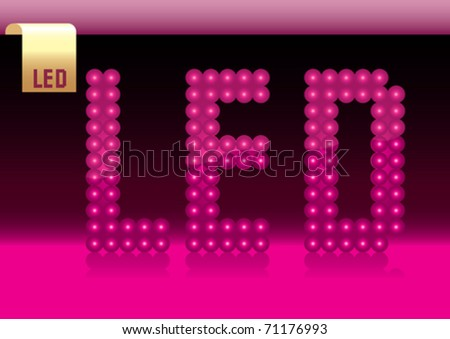 led lamp and led icon - stock vector