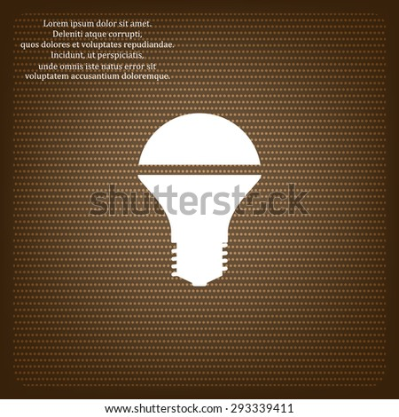 LED lamp . icon. vector design