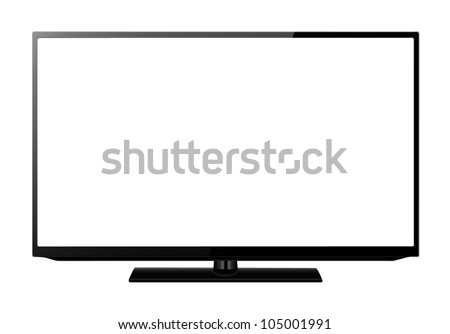 Led or lcd TV monitor isolated on white - stock vector