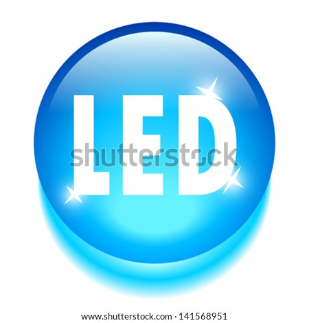 Led technology icon - stock vector