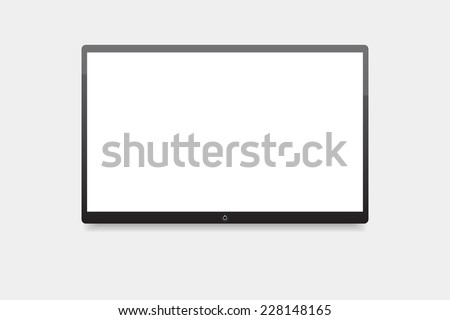 Led tv, screen TV hanging on the wall - stock vector