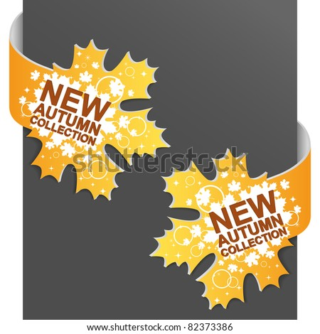 Left and right side sign - NEW AUTUMN COLLECTION. Vector illustration. - stock vector