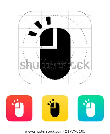 Left click mouse icon. Vector illustration.