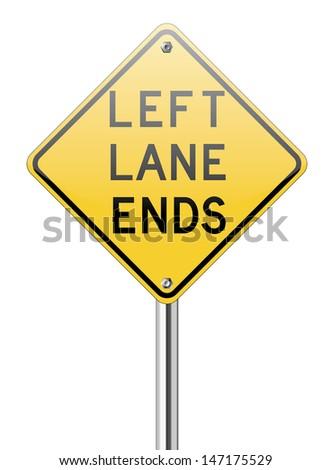 Left land ends on white background - stock vector