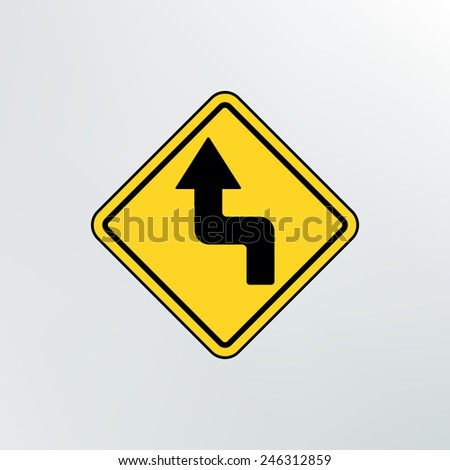Left Reverse Turn icon.Vector illustration. - stock vector