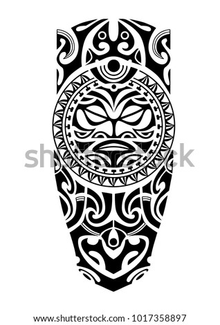 leg tattoo sun maori style stock vector royalty free 1017358897 shutterstock. Black Bedroom Furniture Sets. Home Design Ideas