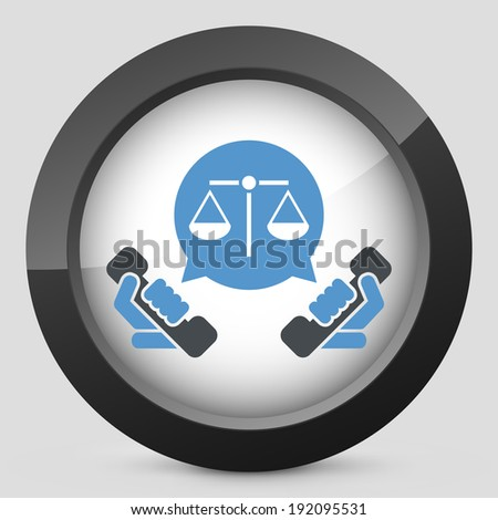 Legal assistance icon - stock vector